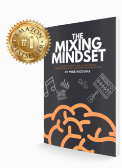 the mixing mindset, book cover, amazon bestseller