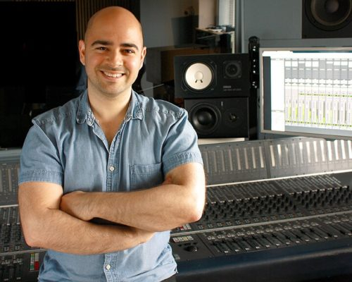 Mike Indovina, MasterYourMix, master your mix, studio, headshot, recording console, sound engineer