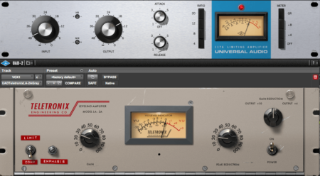The 1176 and LA2A compressors are a fantastic combination for serial compression in a vocal mix.